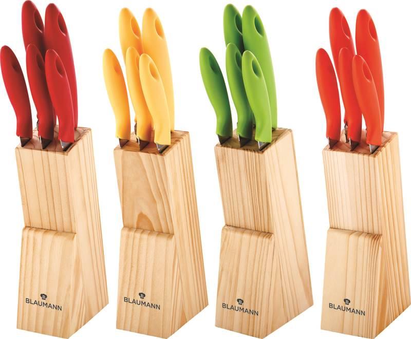 Set couteau avec support en bois 6 pi ces blaumann bl 1119 destockage - Ustensiles de cuisine belgique ...
