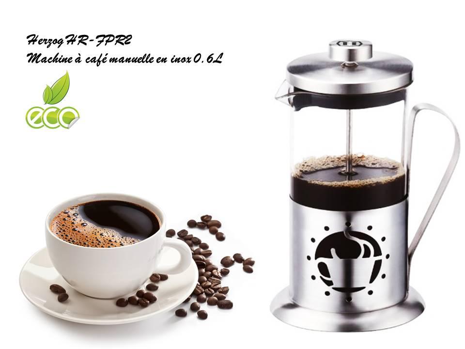 herzog hr fpr2 machine caf manuelle en inox 0 6l. Black Bedroom Furniture Sets. Home Design Ideas
