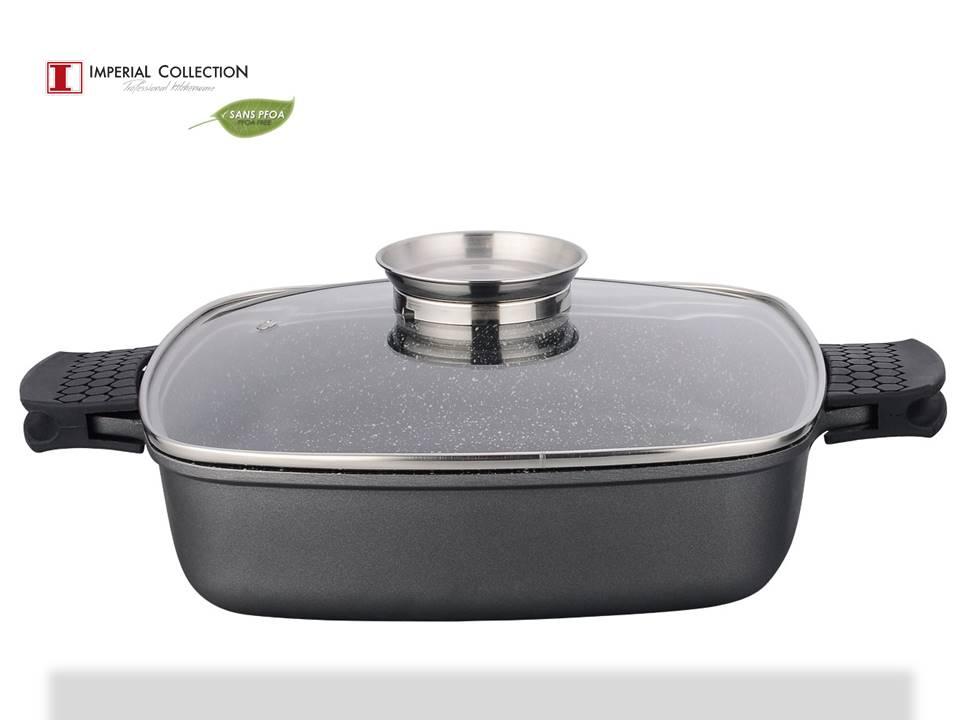 Imperial collection im dsqc28am casserolle carr e avec for Ustensiles de cuisine belgique