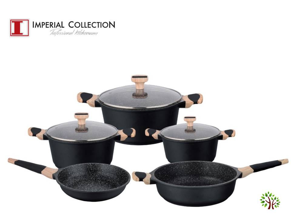 71cc0625ec393a Imperial Collection IM-ST8WM; Non-stick marble coated kitchen pots ...