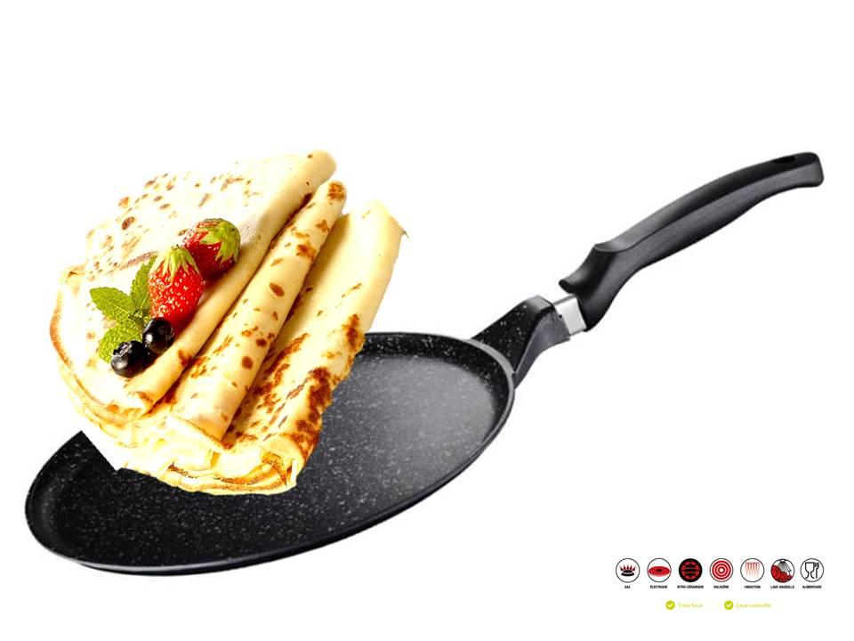 Peterhof ph 15407 24 po le cr pe en aluminium destockage grossiste for Ustensiles de cuisine belgique
