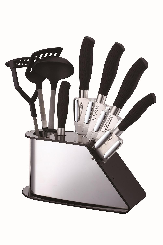 Peterhof ph 22382 9 pi ces ensemble de couteaux avec accessoires de cuisine for Ustensiles de cuisine belgique