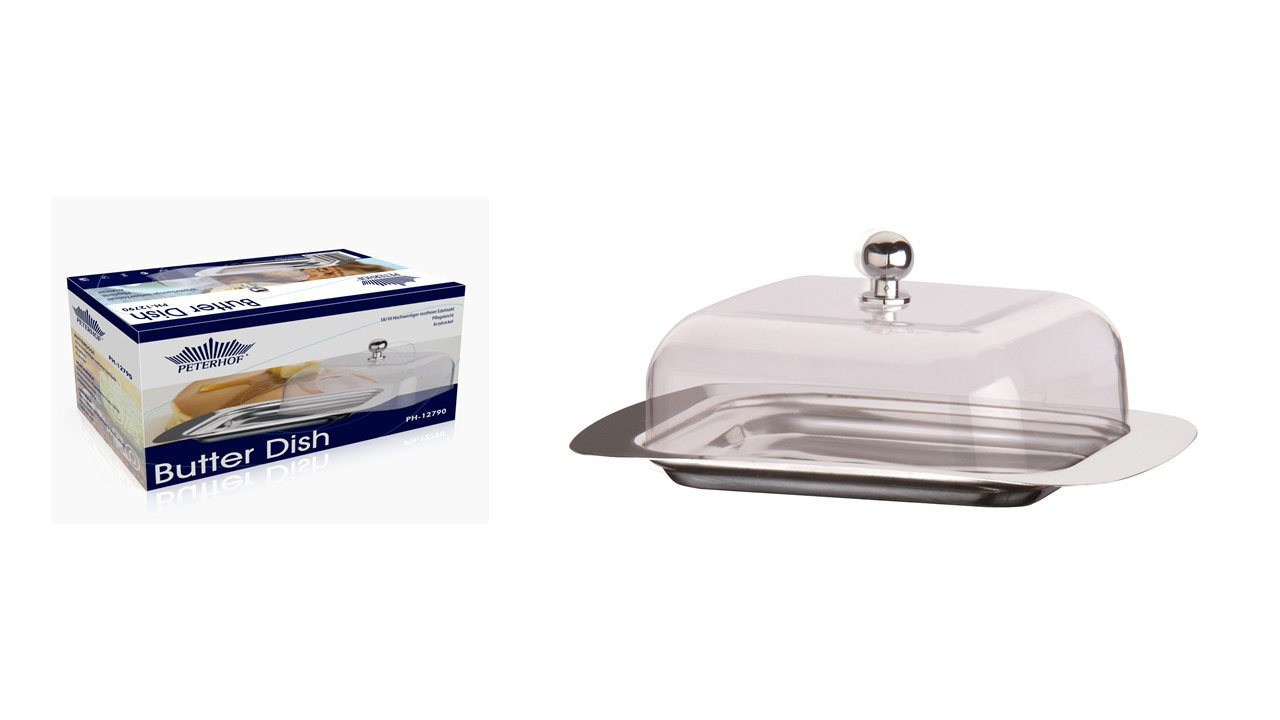 Peterhof Ph 12819 Butter Dish With Acrylic Lid Art Of Deal