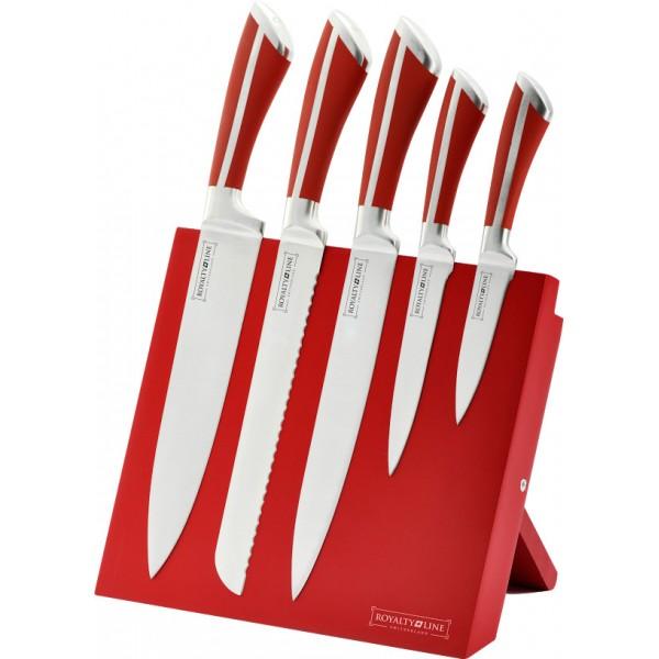 Royalty line rl mg5r set de 5 couteaux en acier for Support magnetique pour couteaux cuisine