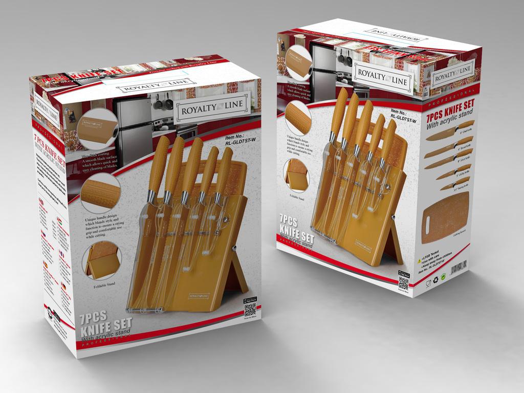 Royalty line rl gld7st w set de couteaux 7 pi ces royalty - Set de cuchillos royalty line ...