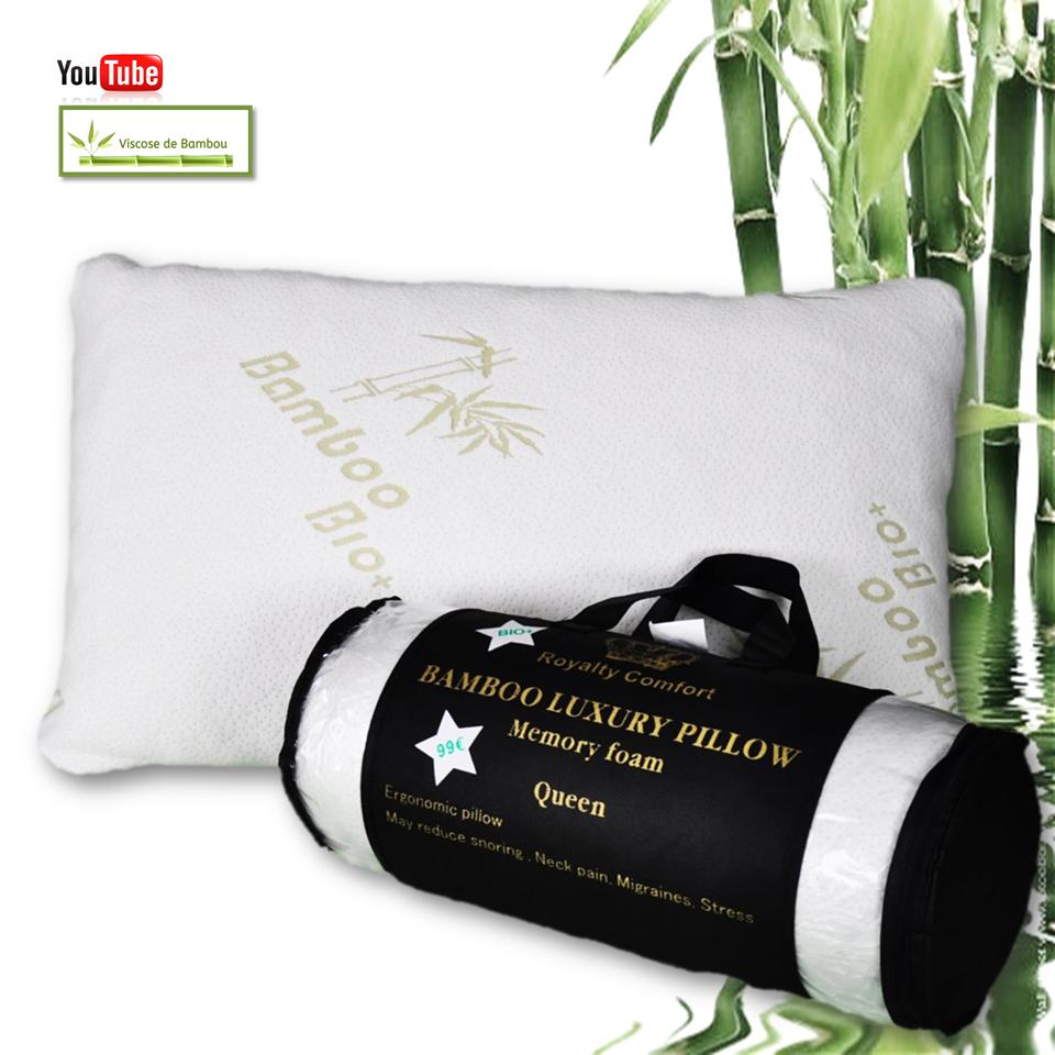 Royalty comfort hg 5076bm oreiller de luxe en bambou queen royal - Oreiller ergonomique bambou ...