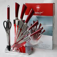 With Stand Royalty Line Rl 3tst 4pcs Knife Set With