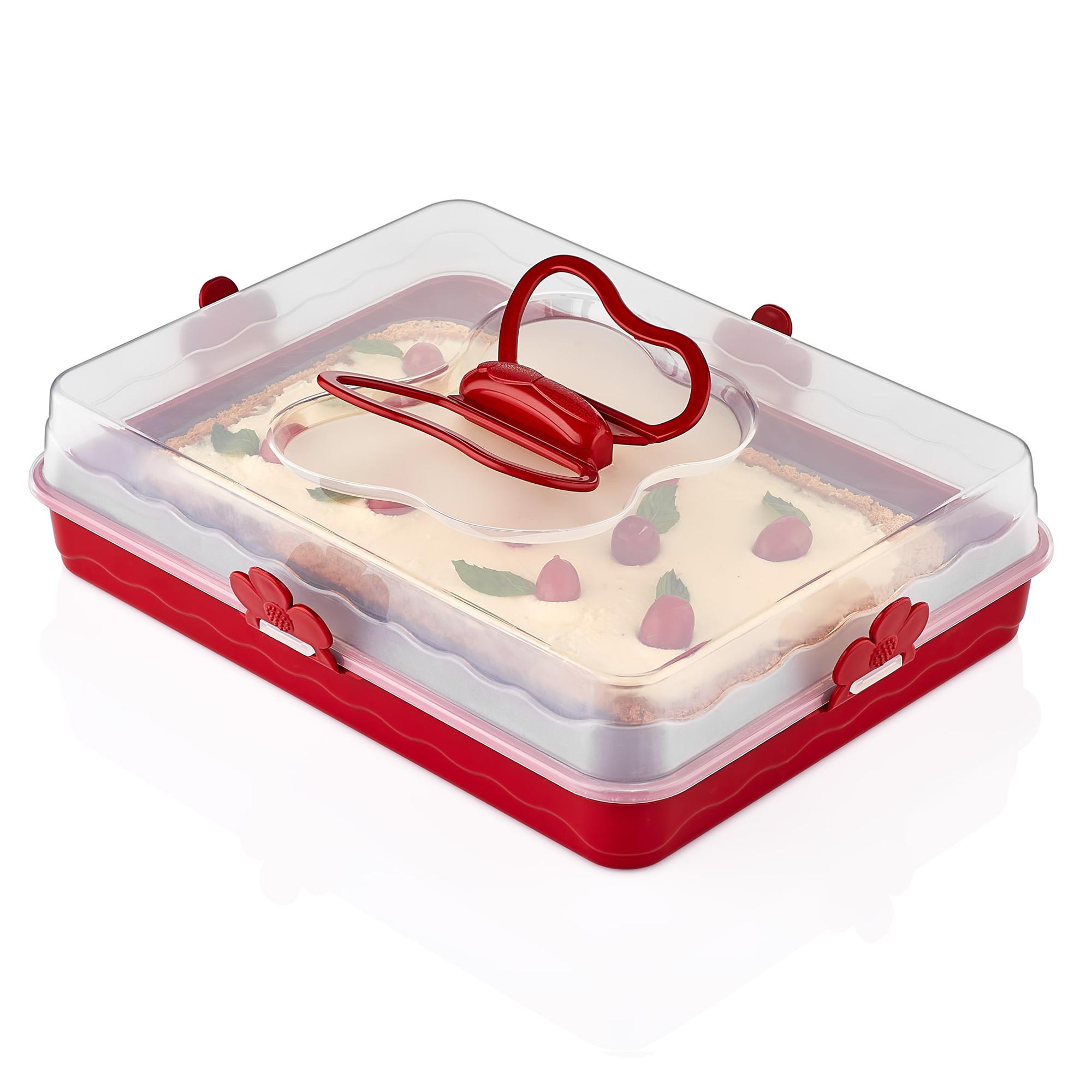 Herzberg HG-L587 : Dôme de gâteau de majordome Rouge