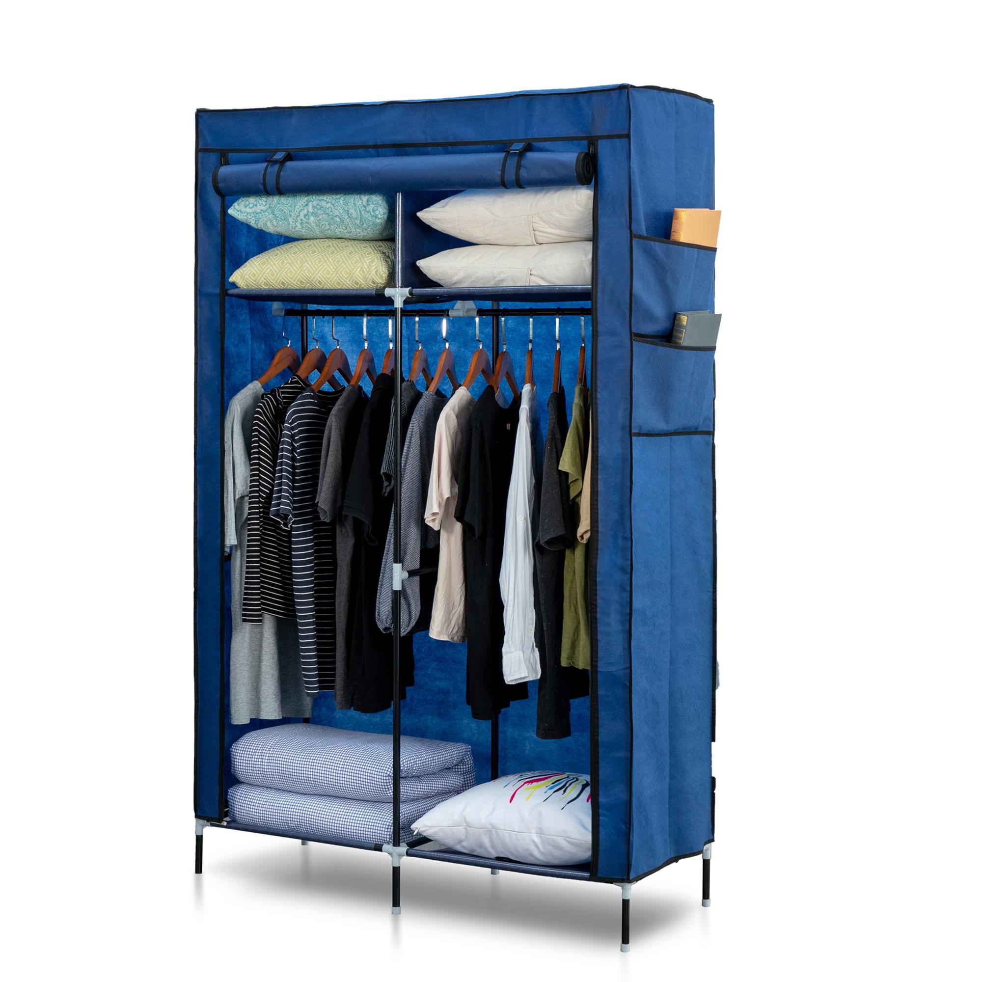 Herzberg HG-8012: Armoire de Rangement Bleu