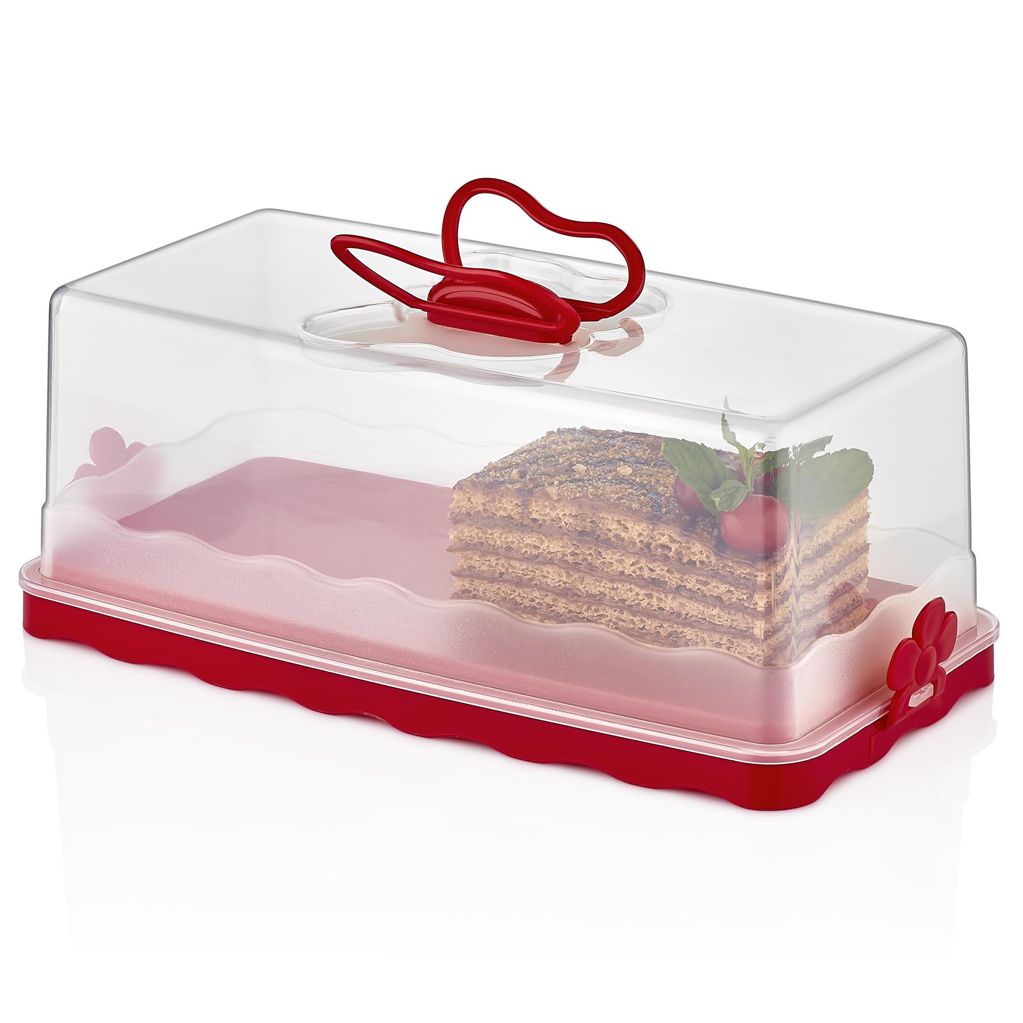 Herzberg HG-L575 : Dôme à gâteau bâton Rouge