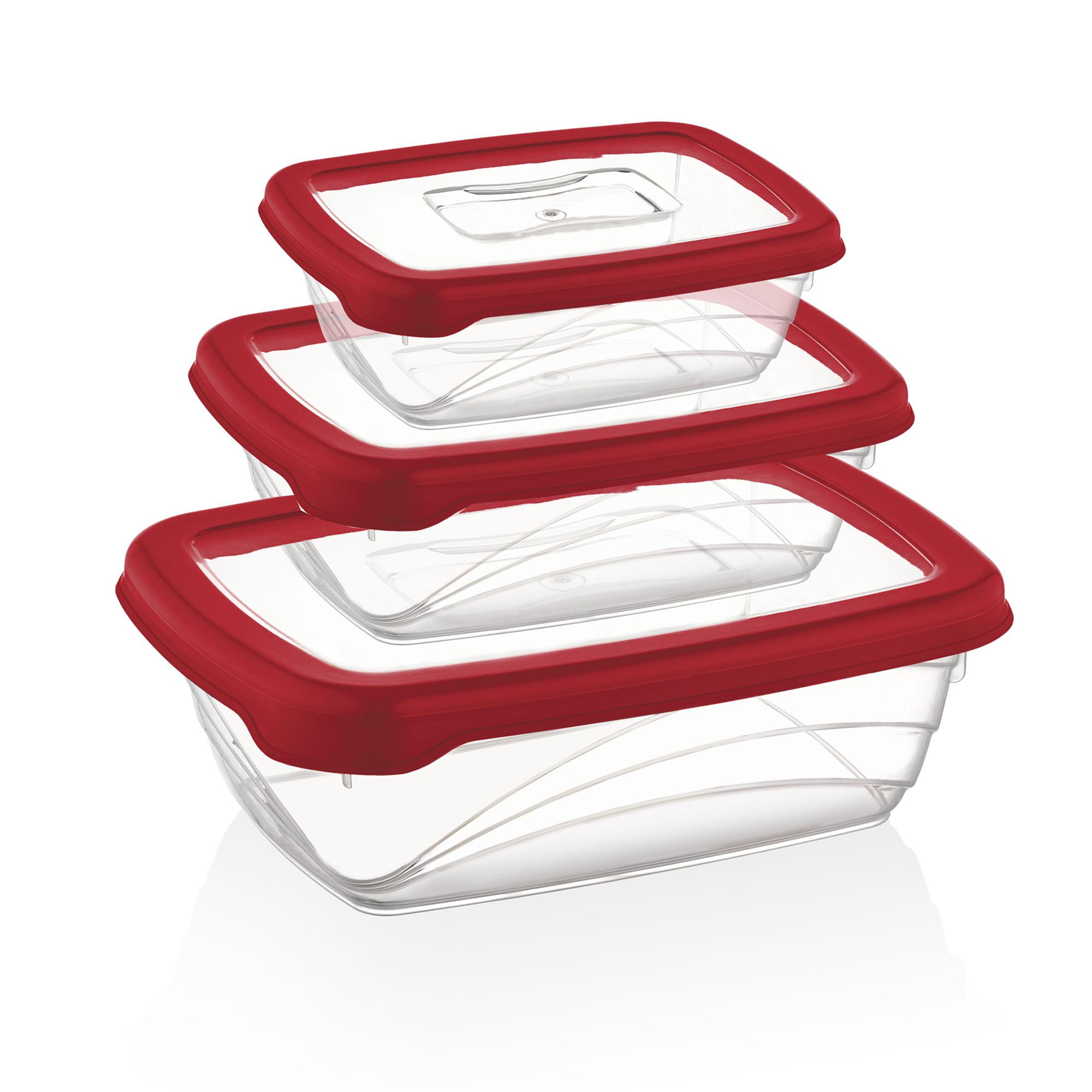 Herzberg HG-L686 : 3 pièces Bio Saver Box Rouge