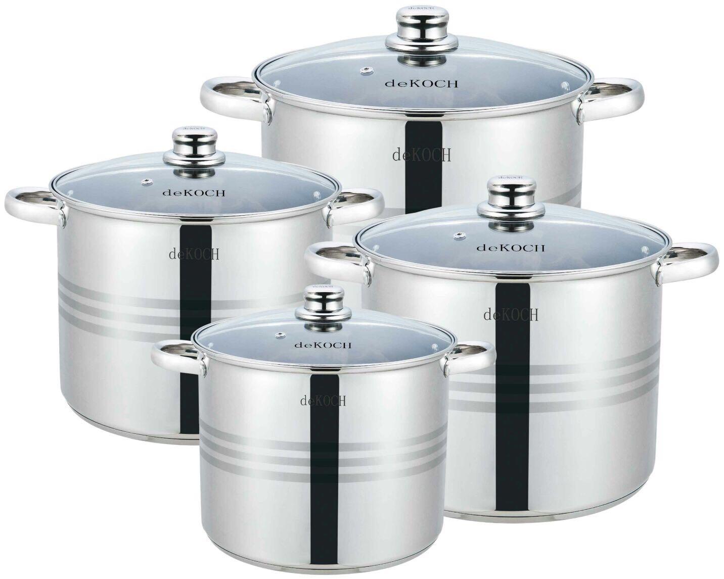 deKOCH PREMIUM DK-SP8; Set de utensilios de cocina de acero ...