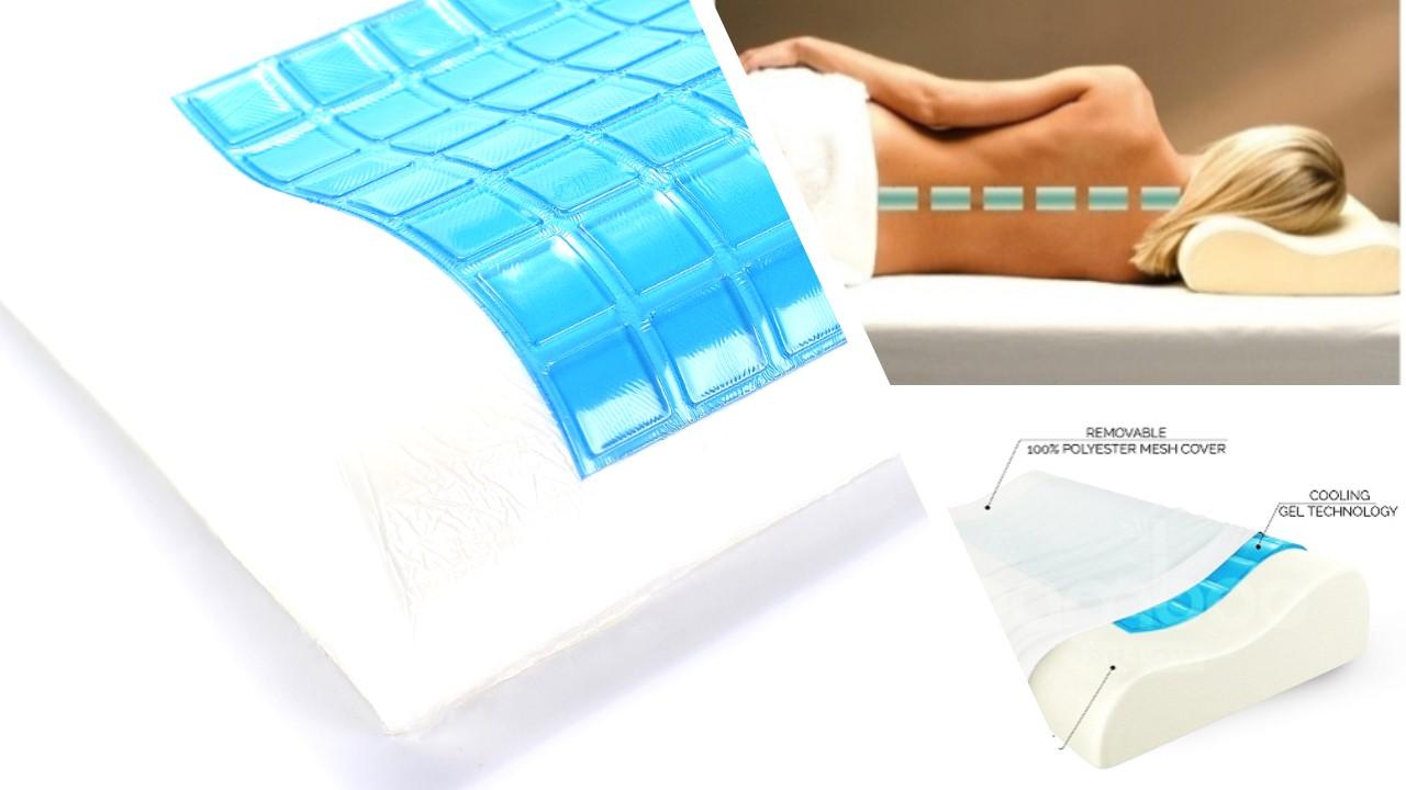 Herzberg Comfort Hg 5030gl Memory Foam Pillow Neck