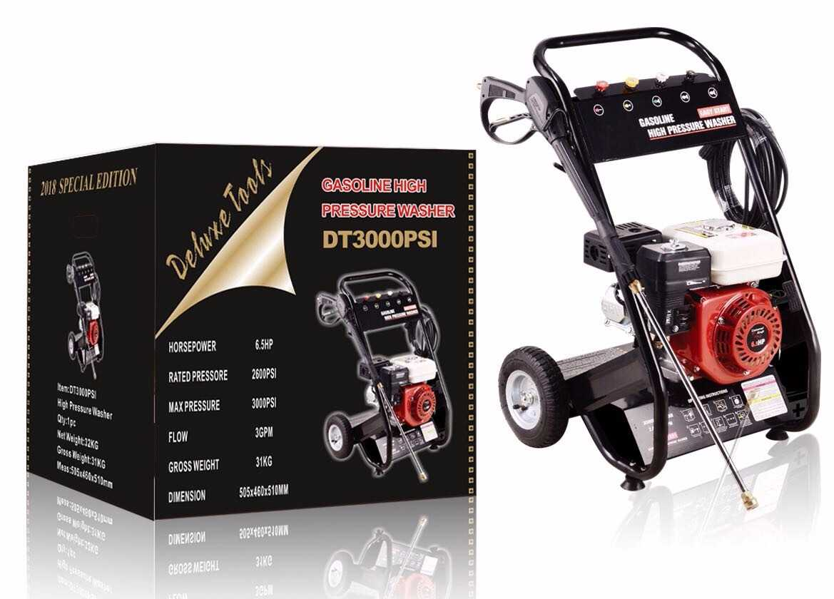 Deluxe Tools Dt3000pst Casoline High Pressure Washer